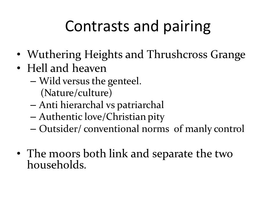 wuthering heights and thrushcross essay Wuthering heights and thrushcross grange grange thrushcross thrushcross grange and wuthering heights let us find you essays on topic thrushcross.