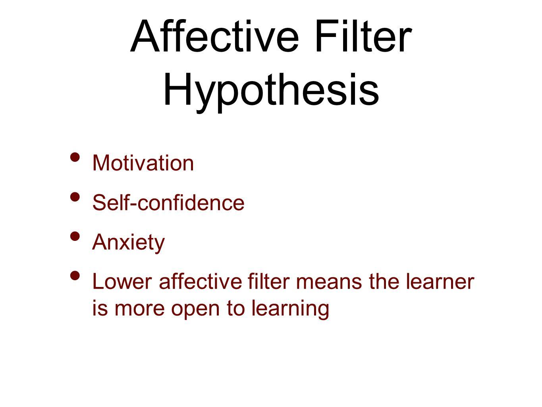 krashen affective filter hypothesis pdf