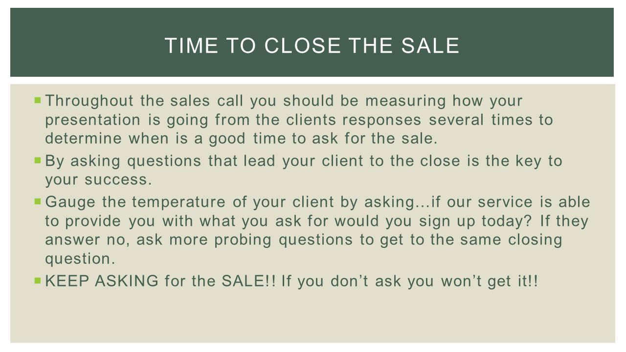 how to make a sales call ppt