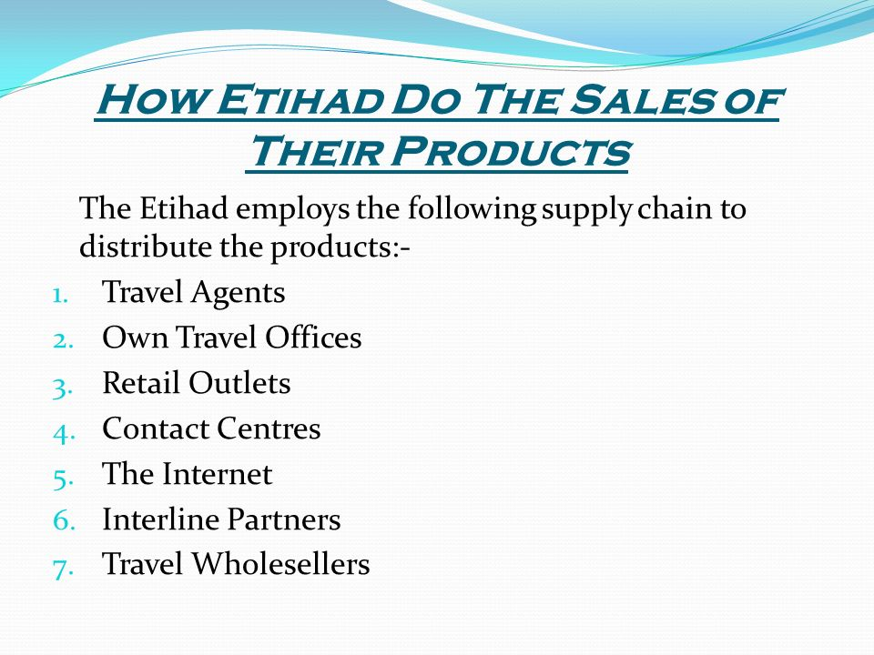 Online travel agency supply chain