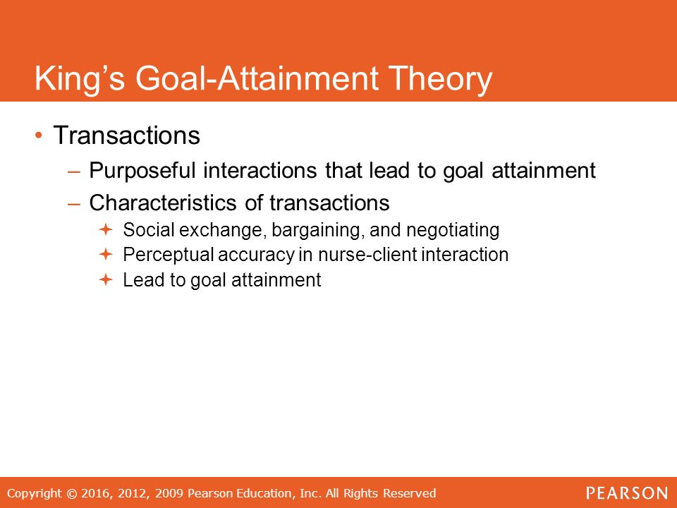 sample cases of goal attainment theory