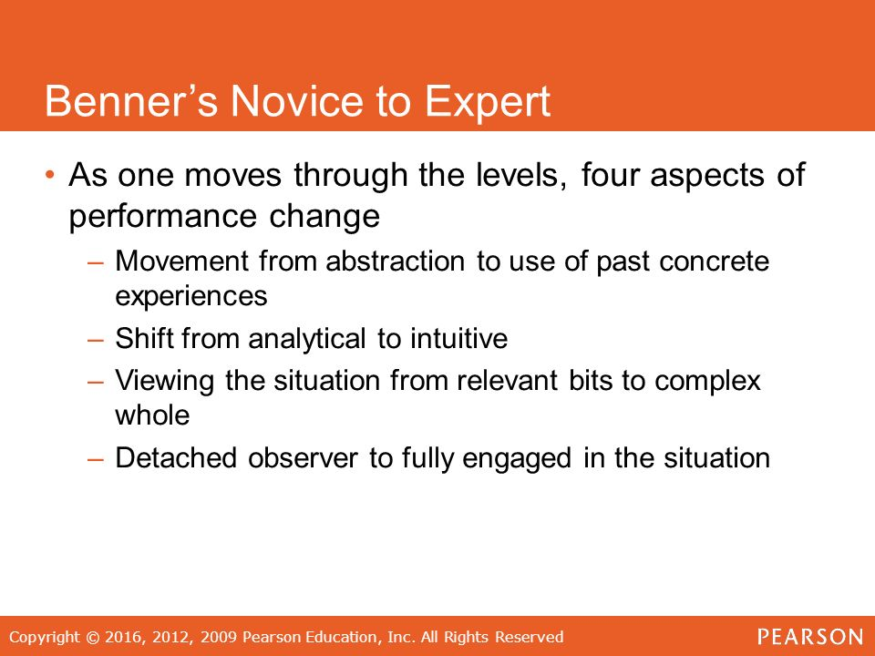 patricia benner from novice to expert pdf