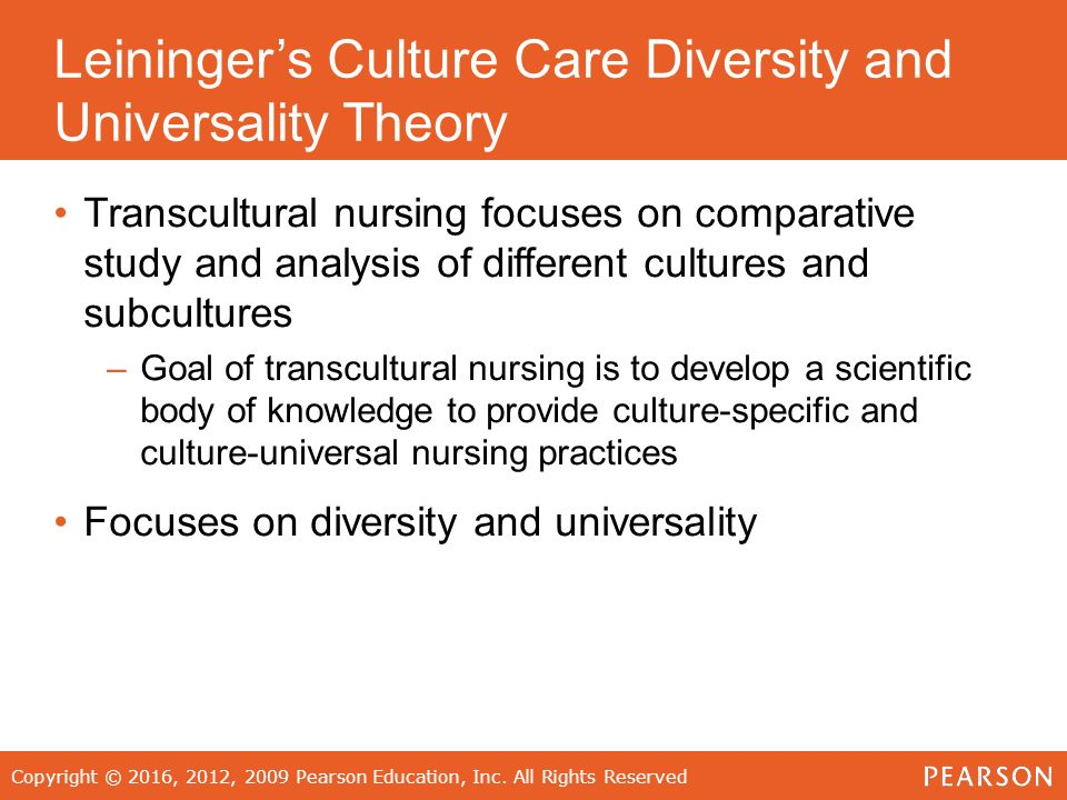 "a study on culture and nursing In 1995, leininger defined transcultural nursing as ""a substantive area of study and practice focused on comparative cultural care (caring) values, beliefs, and practices of individuals or groups of similar or different cultures with the goal of providing culture-specific and universal nursing care practices in promoting health or well-being or to help people to face unfavorable human ."