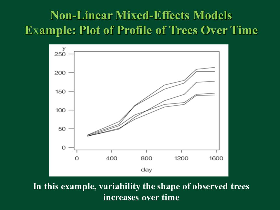 Non-Linear Mixed-Effects Models