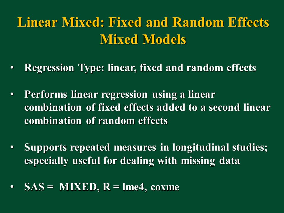Linear Mixed: Fixed and Random Effects
