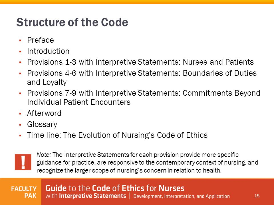 code of ethics nursing provision 6 Isbn: 978-92-95094-95-6 the icn code of ethics for nurses an  international code of ethics for nurses was first adopted by the international  council of.