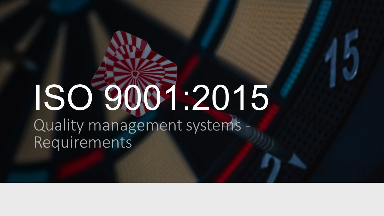 Iso 9001 2015 Subject Quality Management System Clause 5