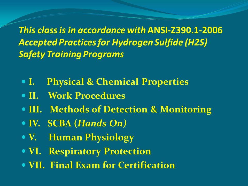 Hydrogen Sulfide Gas OSHA ANSI Z RRC Rule ppt video online ...