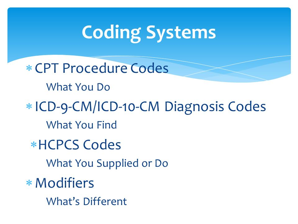 cpt coding The cpt is a uniform coding system consisting of descriptive terms and identifying codes that are used primarily to identify medical services and procedures furnished by physicians and other health care professionals.