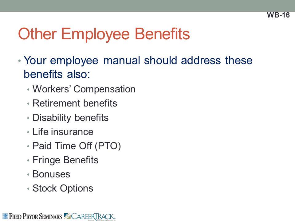 employee handbook benefits section