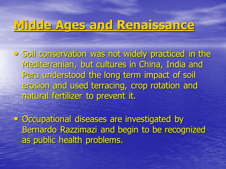 Midde Ages and Renaissance