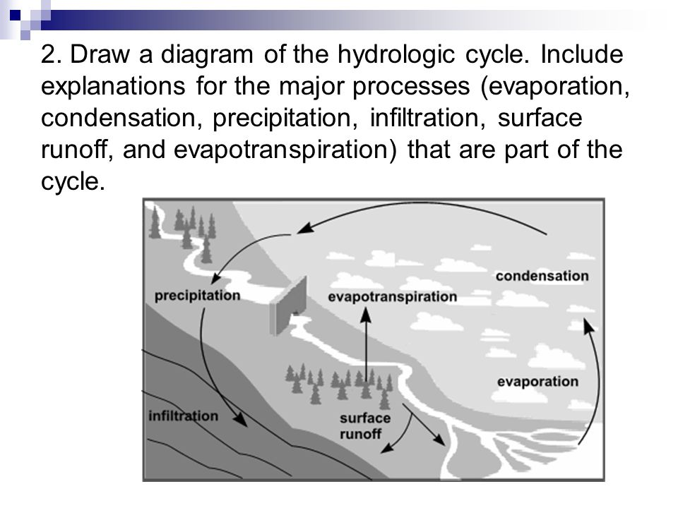 Condensation Precipitation Infiltration Surface Runoff And Evapotranspiration 1 What Is The Hydrologic Cycle 5 2