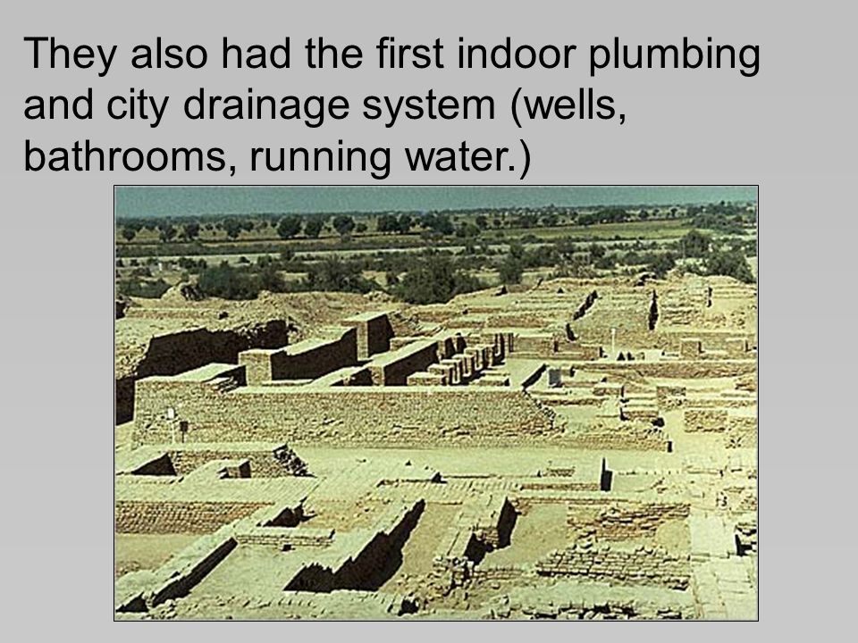 Early indus cities by 2500 bc the indus valley was home to for House drainage system ppt