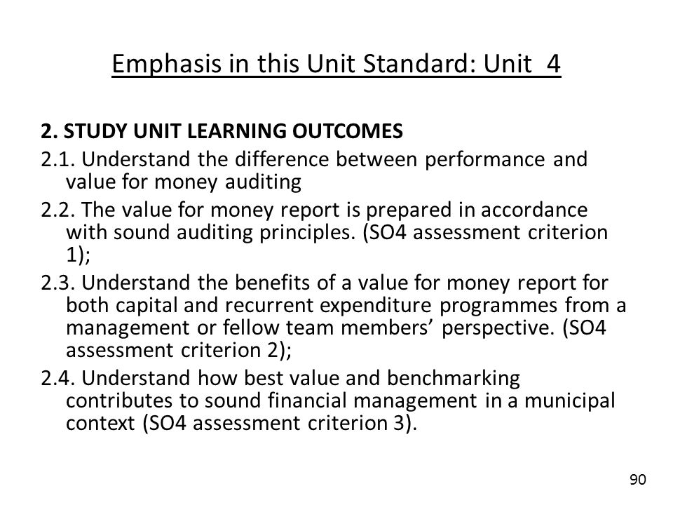 Unit standard conduct audit planning and implementation in a emphasis in this unit standard unit 4 sciox Choice Image