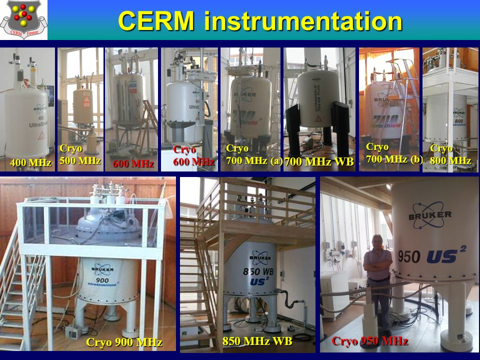 CERM instrumentation NMR instrumentation 700 MHz WB Cryo 900 MHz