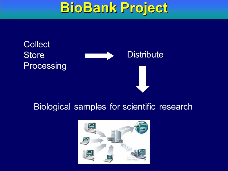 BioBank Project Collect Store Processing Distribute