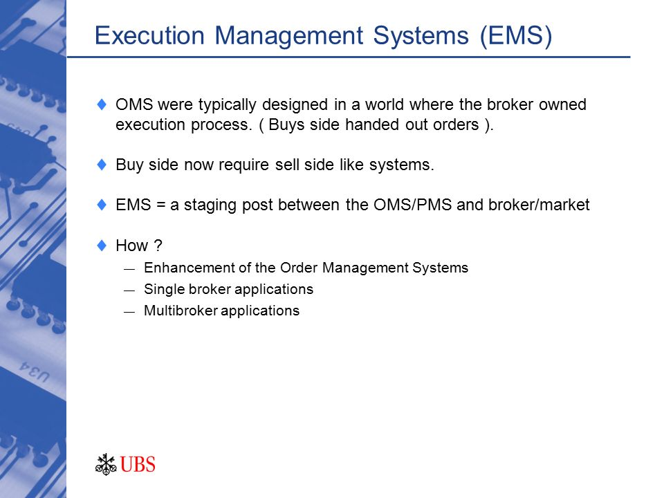 Trading ems system