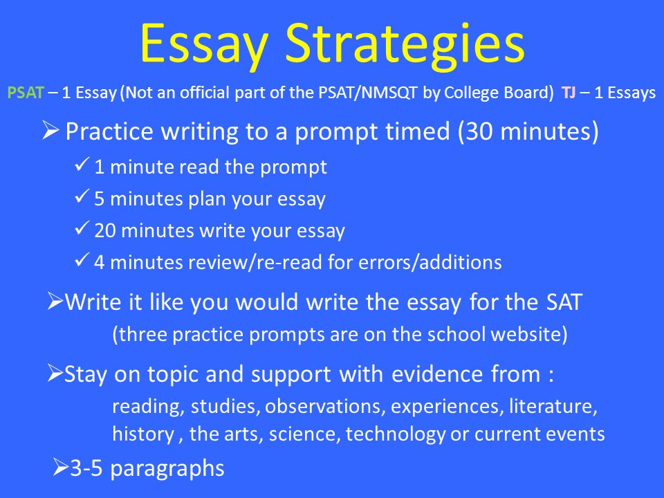 5 Paragraph Essay Writing Prompts