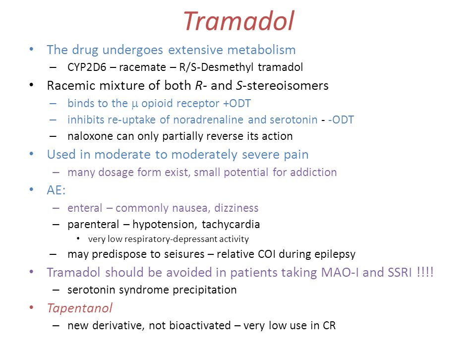 is tramadol an opiate antagonist naloxone dosage
