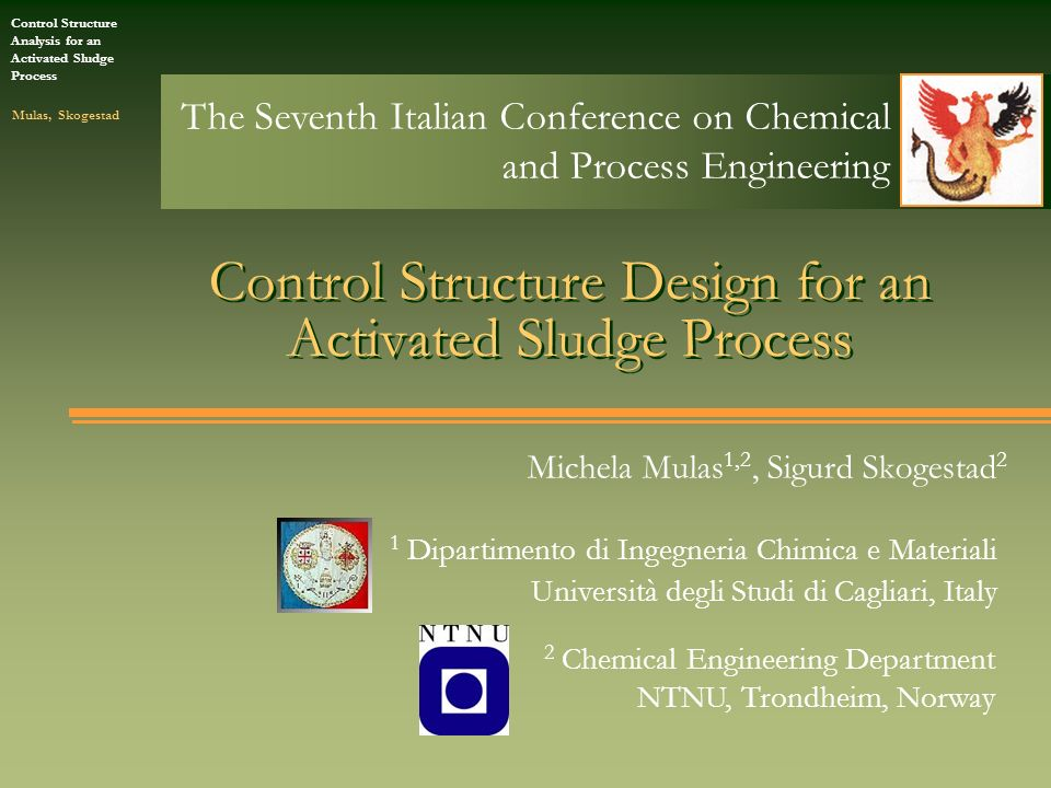 Control Structure Design for an Activated Sludge Process