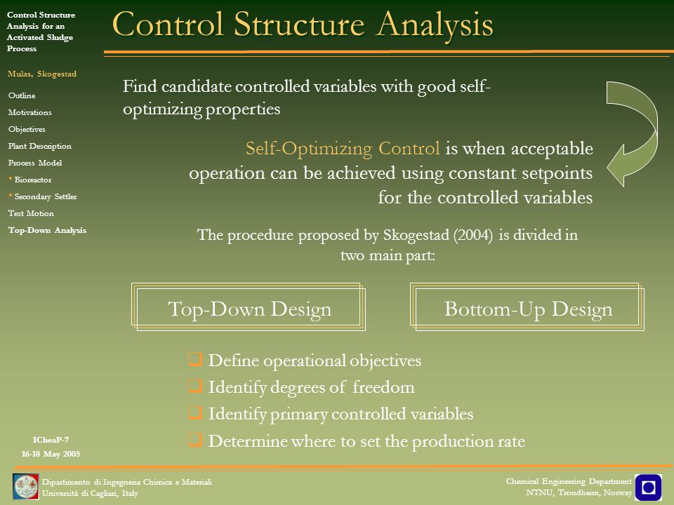 Control Structure Analysis