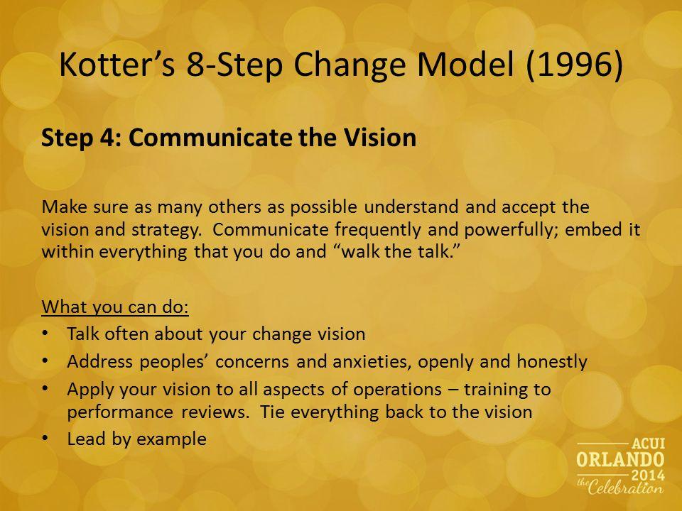 apply kotter s 8 step John kotter's guiding principles for leading change the 8 steps of john kotter's change model.