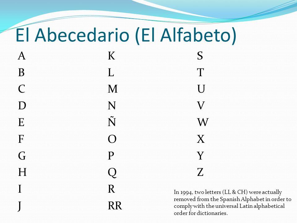 El Abecedario (El Alfabeto)