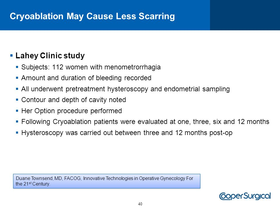 Cryoablation May Cause Less Scarring