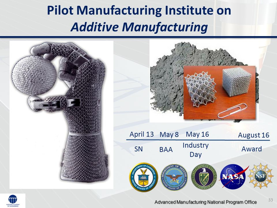 Mike molnar advanced manufacturing national program office for Nasa additive manufacturing
