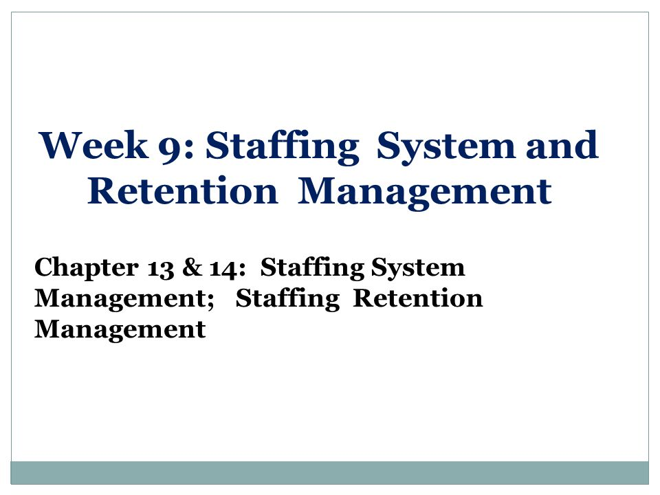 The Effects & Importance of a Staffing System on Organizational Development