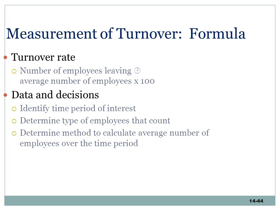 data collection methods on employee turnover The methods of data collection included in-depth semi structured interviews with  the  employee turnover, human resource management, hrm practices.
