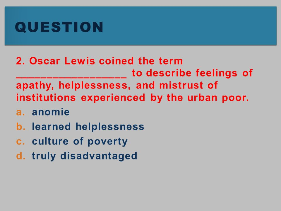 chapter sociological views of delinquency ppt video online  14 question 2 oscar lewis