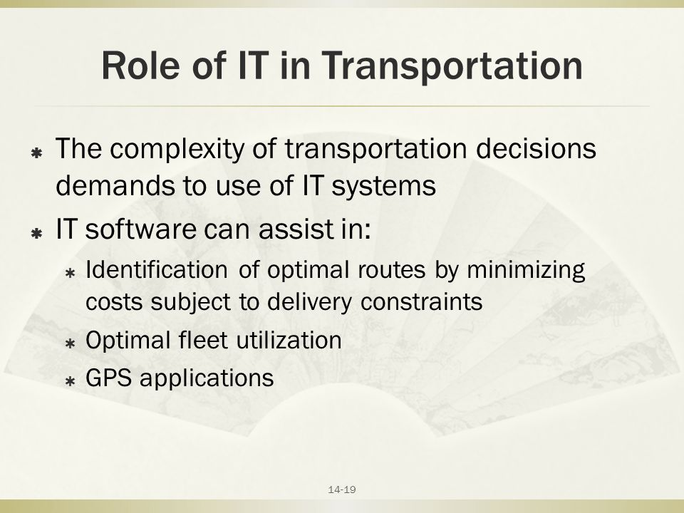 role of transportation in supply chain management pdf