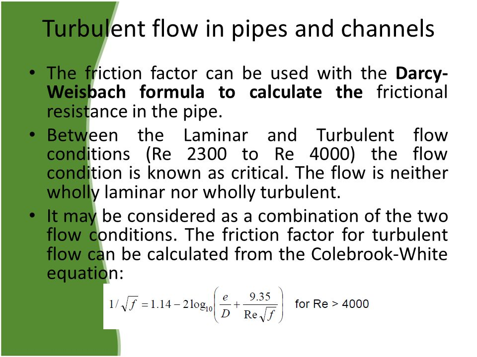 Incompressible Flow in Pipes and Channels ppt video online download
