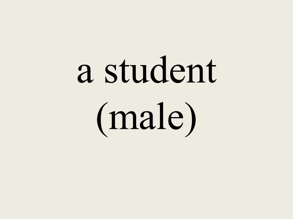 a student (male)