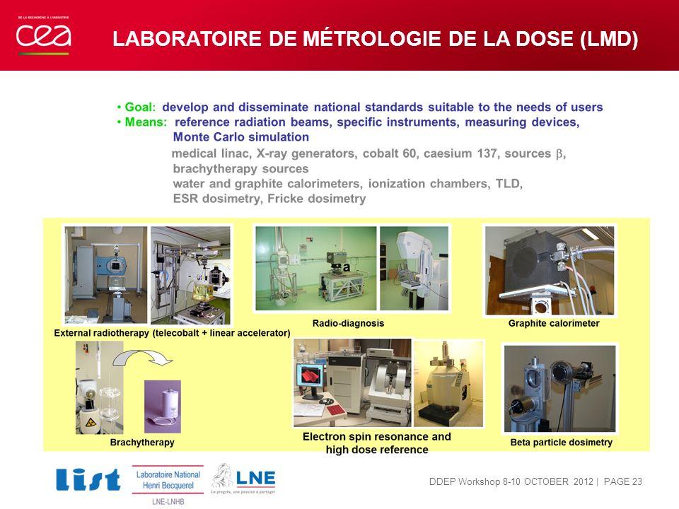 Laboratoire de métrologie de la DOSE (LMD)