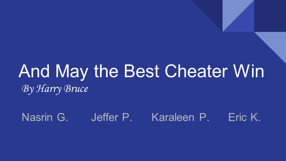 and may the best cheater win pdf