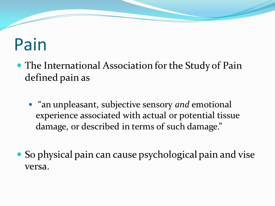 International Association for the Study of Pain - Wikipedia