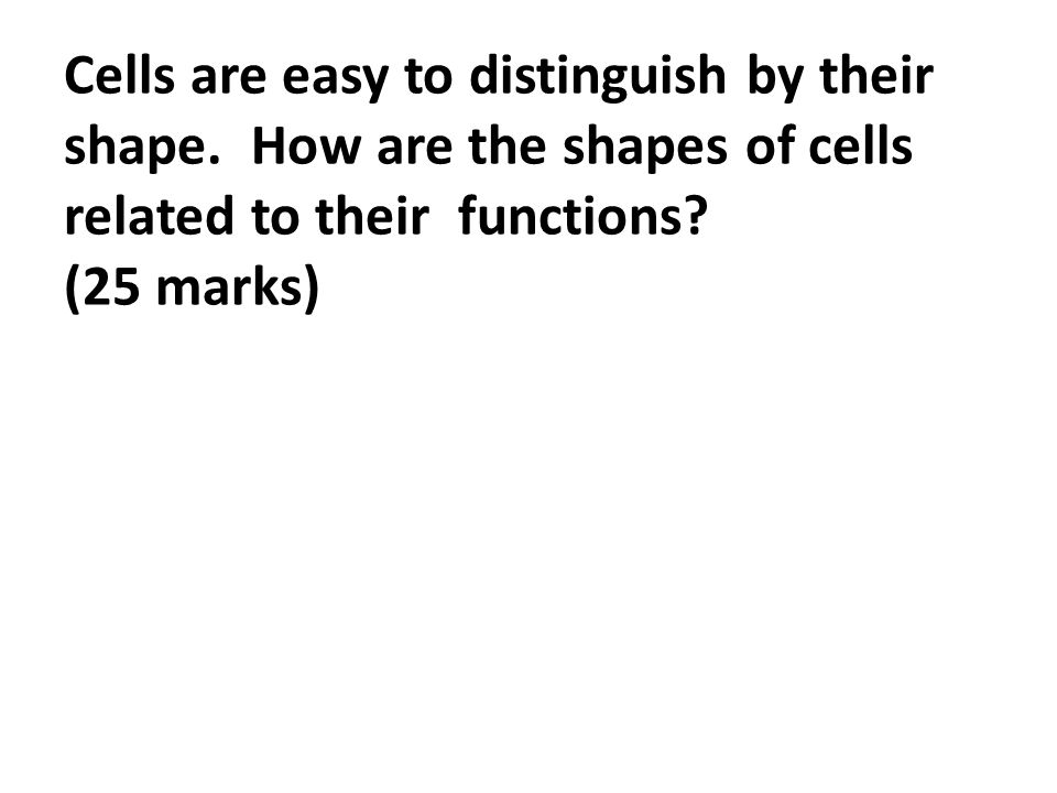 essay titles markschemes ppt video online  2 cells