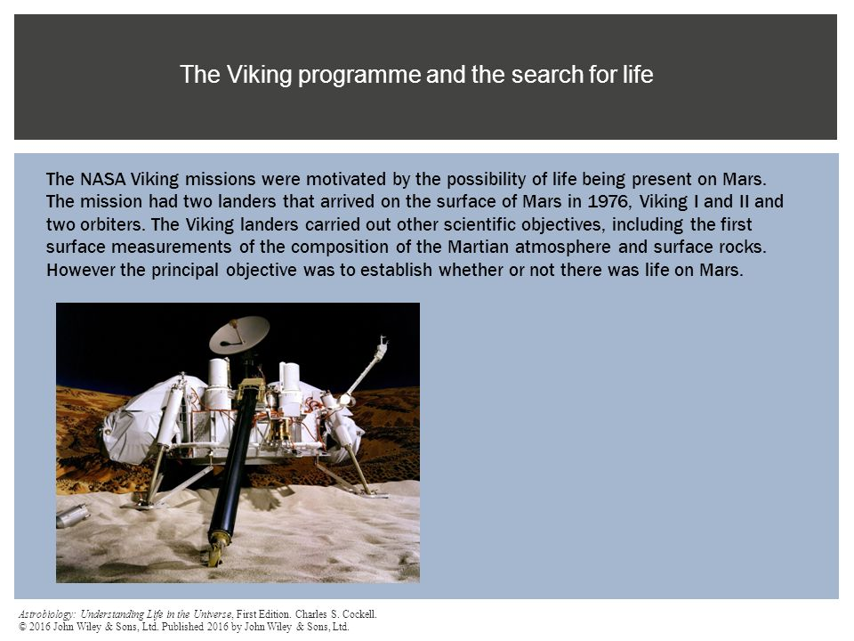 The Viking programme and the search for life