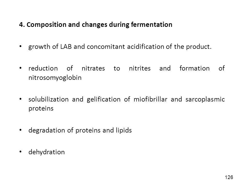 4. Composition and changes during fermentation