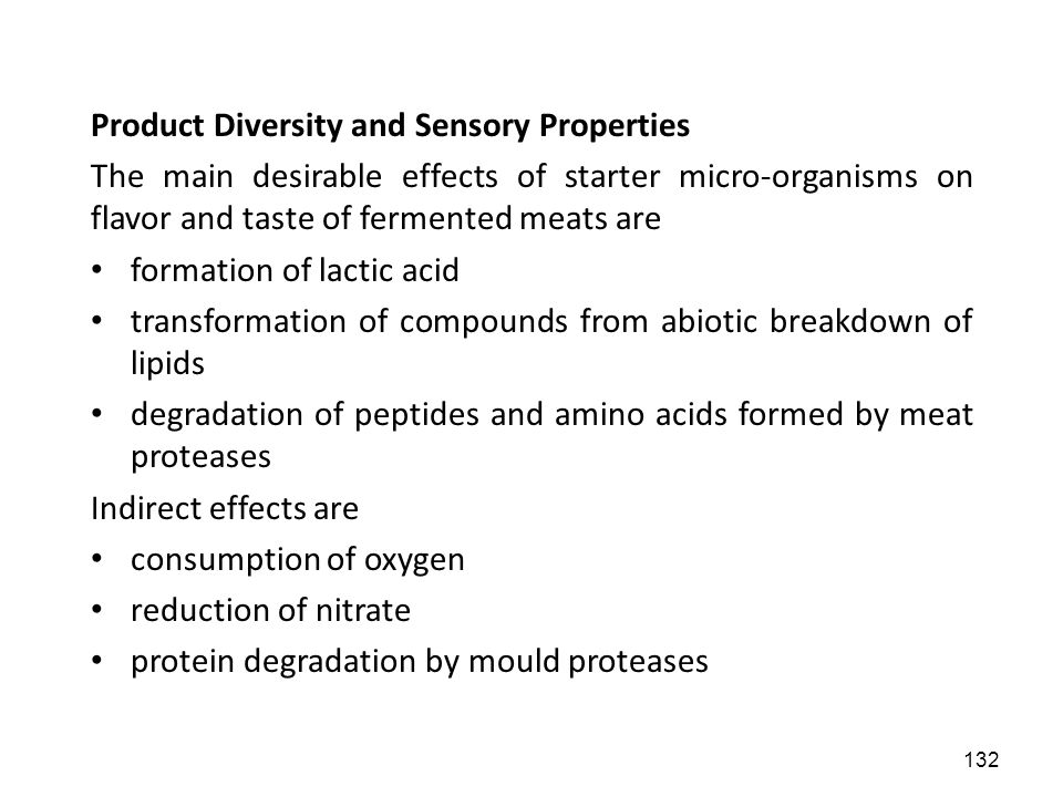 Product Diversity and Sensory Properties