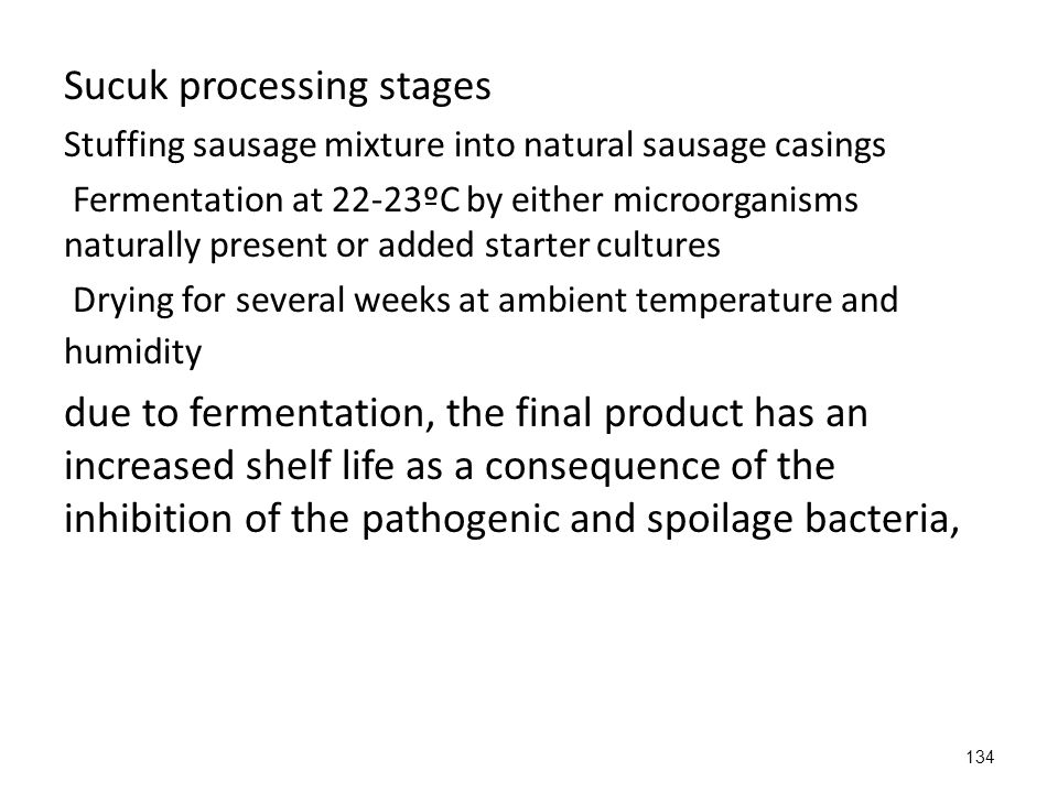 Sucuk processing stages