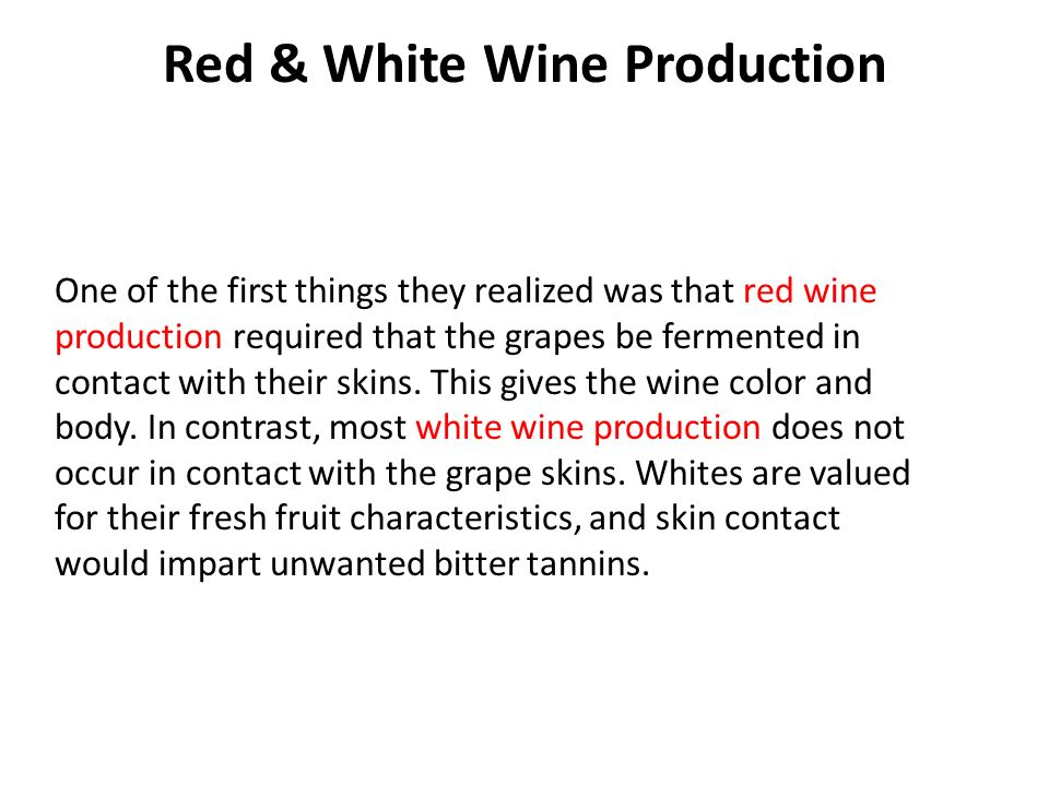 Red & White Wine Production