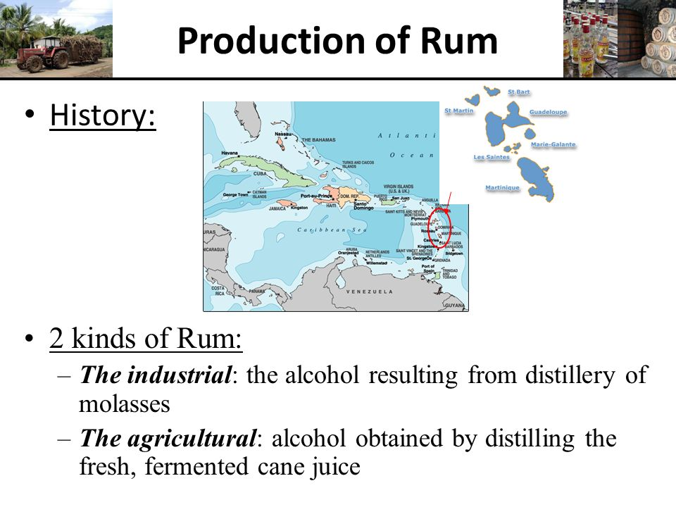 Production of Rum History: 2 kinds of Rum: