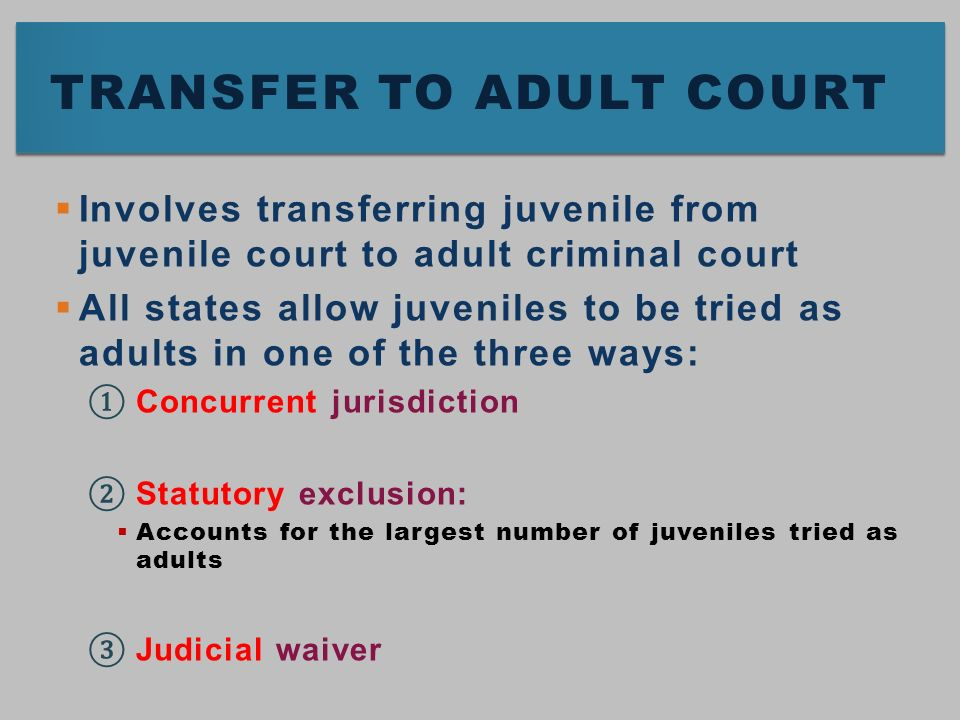 juveniles tried as adults pros and cons Should juveniles be tried as adults juveniles' responsibilities and rights should juveniles be tried as adults.