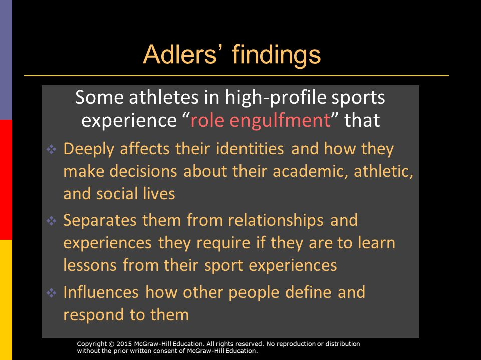 the role and influence of pro athletes on the society Full-text paper (pdf): the role of romantic relationships on athletes' performance and well-being.