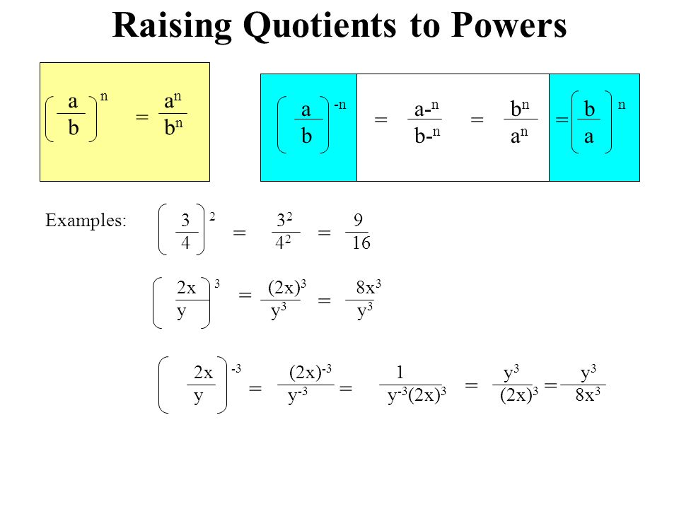 Review topics chapter 0 1 ppt download 3 raising quotients to powers ccuart Choice Image