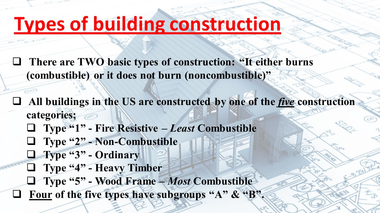 Types Of Building Construction For Firefighters Ppt