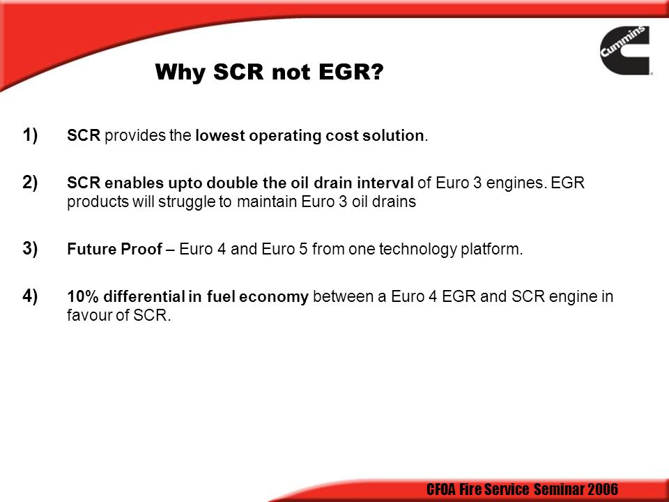 Scr Vs Egr The Great Debate Ppt Download